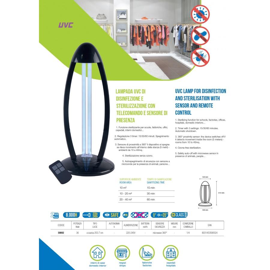 UVC LAMP 59002 BOT LIGHTING